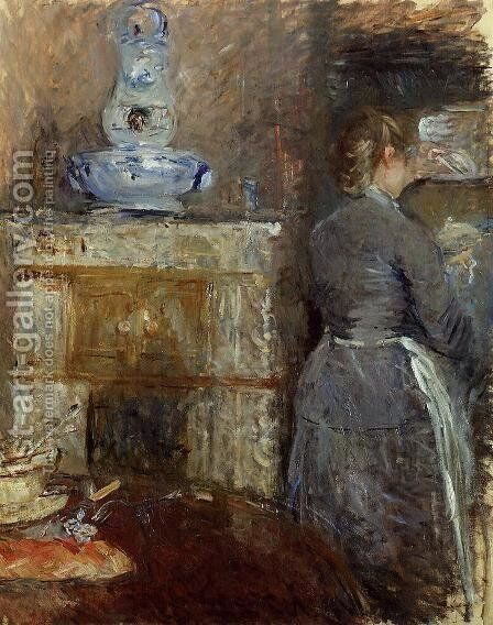 The Dining Room Of The Rouart Family  Avenue DEylau by Berthe Morisot - Reproduction Oil Painting