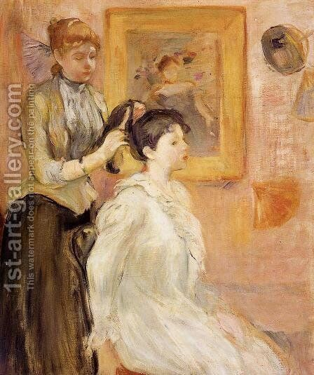 The Hairdresser by Berthe Morisot - Reproduction Oil Painting
