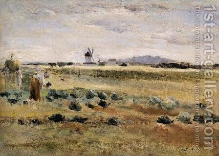 The Little Windmill At Gennevilliers by Berthe Morisot - Reproduction Oil Painting
