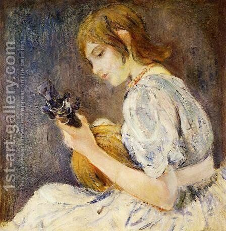 The Mandolin by Berthe Morisot - Reproduction Oil Painting