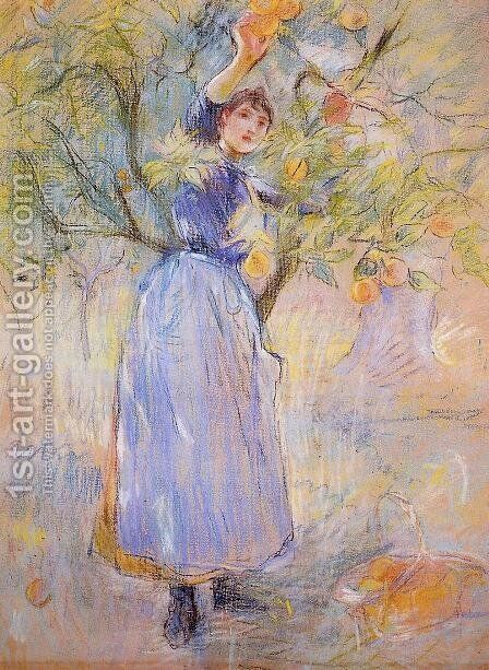 The Orange Picker2 by Berthe Morisot - Reproduction Oil Painting