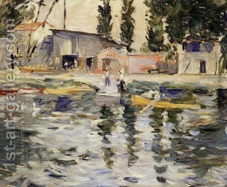 The Seine At Bougival by Berthe Morisot - Reproduction Oil Painting