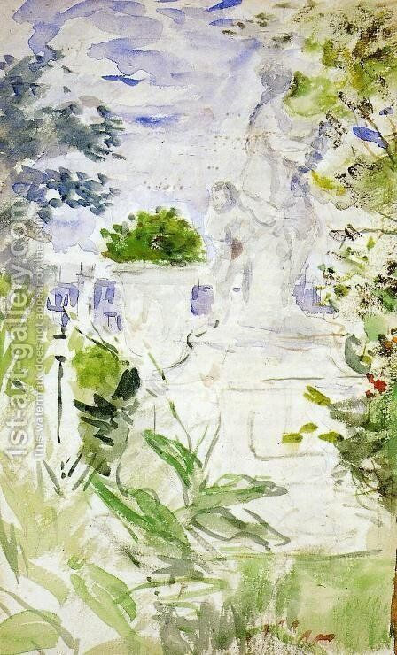 The Tuileries by Berthe Morisot - Reproduction Oil Painting