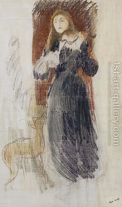 The Violin by Berthe Morisot - Reproduction Oil Painting