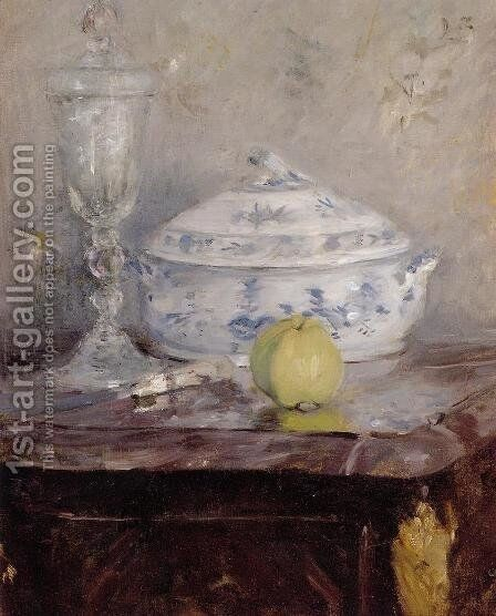 Tureen And Apple by Berthe Morisot - Reproduction Oil Painting