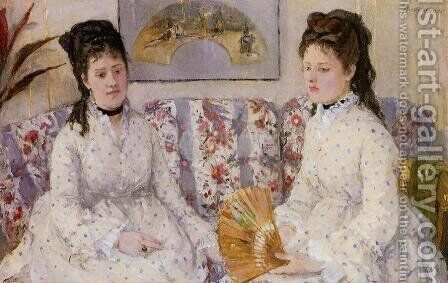 Two Sisters On A Couch by Berthe Morisot - Reproduction Oil Painting