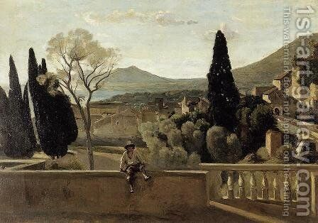 View Of Tivoli (after Corot) by Berthe Morisot - Reproduction Oil Painting