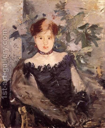 Woman in Black 1878 by Berthe Morisot - Reproduction Oil Painting