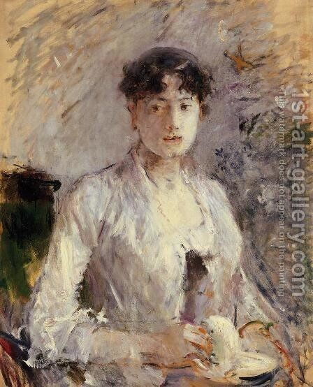 Young Woman In Mauve by Berthe Morisot - Reproduction Oil Painting