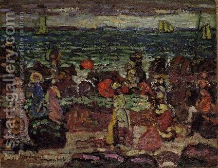 A Dark Day by Maurice Brazil Prendergast - Reproduction Oil Painting