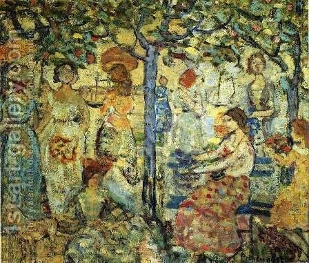 Acadia by Maurice Brazil Prendergast - Reproduction Oil Painting