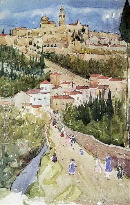 Assisi by Maurice Brazil Prendergast - Reproduction Oil Painting