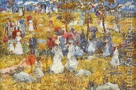 At The Park by Maurice Brazil Prendergast - Reproduction Oil Painting