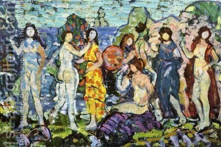 Bathers3 by Maurice Brazil Prendergast - Reproduction Oil Painting