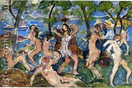 Bathers5 by Maurice Brazil Prendergast - Reproduction Oil Painting