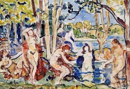 Bathers6 by Maurice Brazil Prendergast - Reproduction Oil Painting