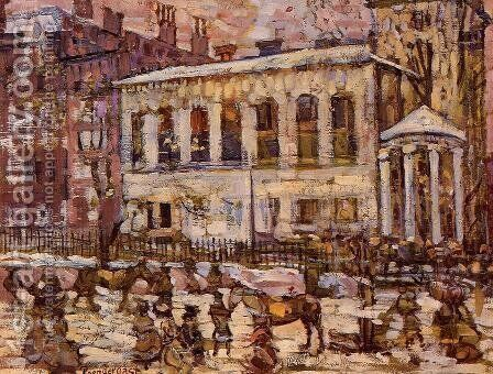 Boston  Snowy Day by Maurice Brazil Prendergast - Reproduction Oil Painting