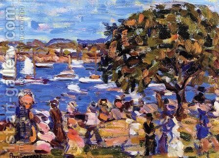 Bucks Harbor by Maurice Brazil Prendergast - Reproduction Oil Painting