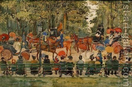 Central Park by Maurice Brazil Prendergast - Reproduction Oil Painting