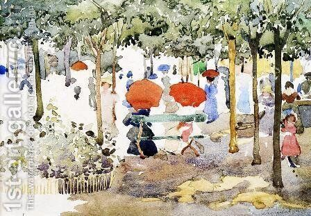 Central Park2 by Maurice Brazil Prendergast - Reproduction Oil Painting