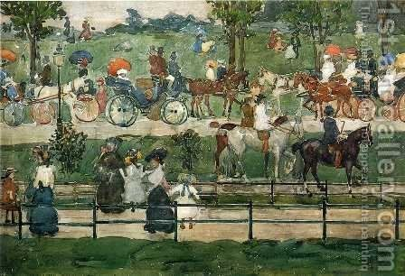 Central Park5 by Maurice Brazil Prendergast - Reproduction Oil Painting