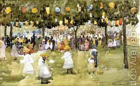 Central Park  New York City  July 4th by Maurice Brazil Prendergast - Reproduction Oil Painting