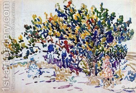 Children In The Tree by Maurice Brazil Prendergast - Reproduction Oil Painting