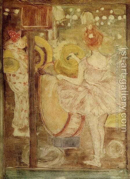 Circus Band by Maurice Brazil Prendergast - Reproduction Oil Painting