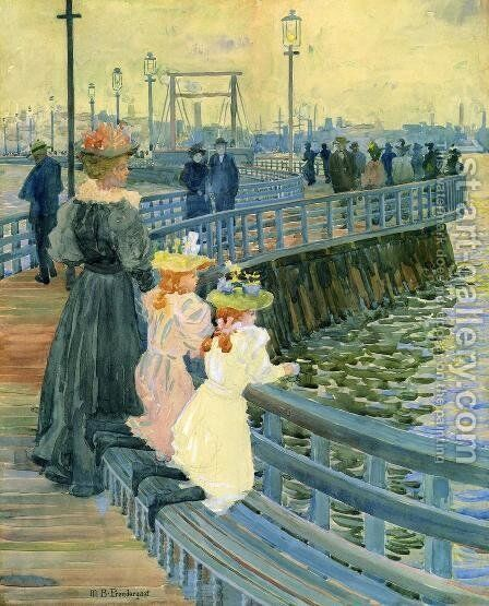 City Point Bridge by Maurice Brazil Prendergast - Reproduction Oil Painting