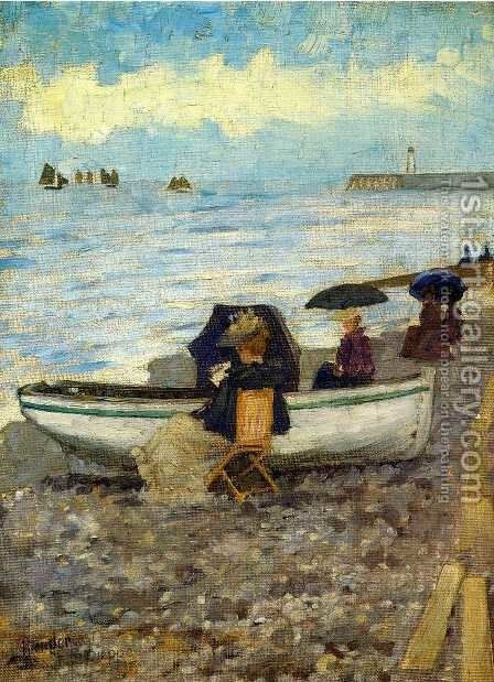 Dieppe by Maurice Brazil Prendergast - Reproduction Oil Painting