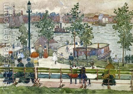 East River Park by Maurice Brazil Prendergast - Reproduction Oil Painting