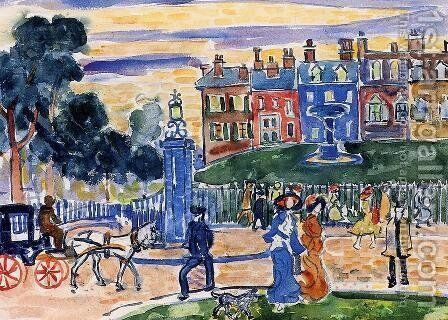 Edge Of The Park by Maurice Brazil Prendergast - Reproduction Oil Painting