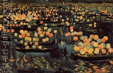 Festa Del Redentore by Maurice Brazil Prendergast - Reproduction Oil Painting