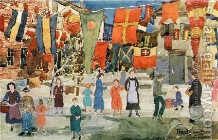 Fiesta by Maurice Brazil Prendergast - Reproduction Oil Painting
