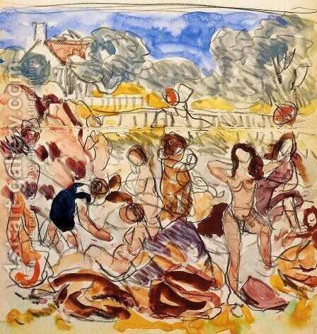 Figures On The Beach2 by Maurice Brazil Prendergast - Reproduction Oil Painting
