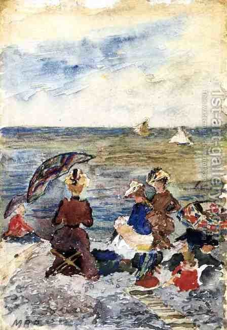 Figures On The Beach3 by Maurice Brazil Prendergast - Reproduction Oil Painting
