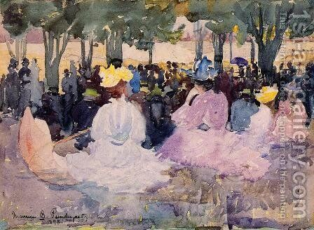 Figures On The Grass by Maurice Brazil Prendergast - Reproduction Oil Painting