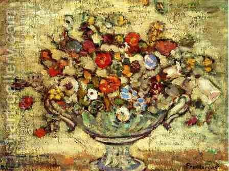 Floral Still Life by Maurice Brazil Prendergast - Reproduction Oil Painting