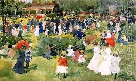 Franklin Park  Boston2 by Maurice Brazil Prendergast - Reproduction Oil Painting