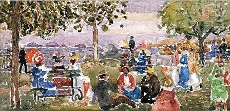 Gloucester Park by Maurice Brazil Prendergast - Reproduction Oil Painting