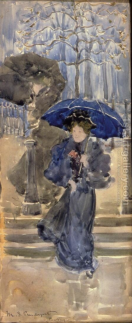 Ladies In The Rain by Maurice Brazil Prendergast - Reproduction Oil Painting