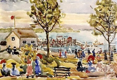 Landing Stage by Maurice Brazil Prendergast - Reproduction Oil Painting