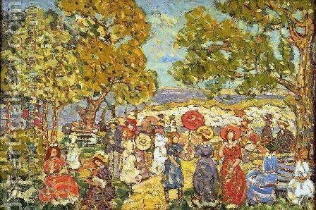 Landscape With Figures3 by Maurice Brazil Prendergast - Reproduction Oil Painting