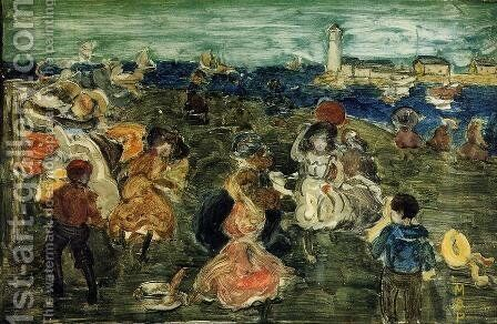 Lighthouse by Maurice Brazil Prendergast - Reproduction Oil Painting