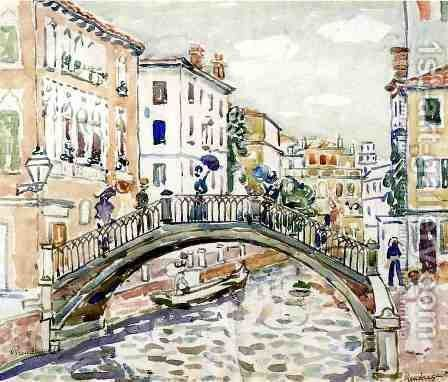 Little Bridge  Venice by Maurice Brazil Prendergast - Reproduction Oil Painting