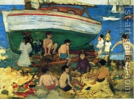 Low Tide by Maurice Brazil Prendergast - Reproduction Oil Painting