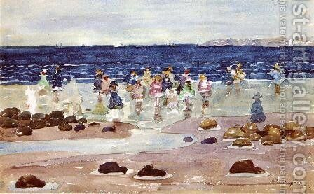 Low Tide2 by Maurice Brazil Prendergast - Reproduction Oil Painting
