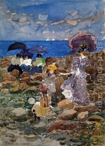 Low Tide3 by Maurice Brazil Prendergast - Reproduction Oil Painting