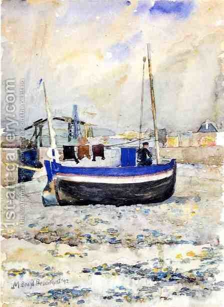 Low Tide  Afternoon  Treport by Maurice Brazil Prendergast - Reproduction Oil Painting