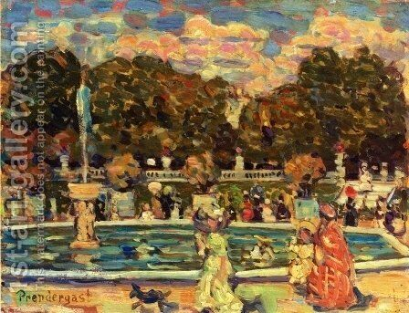 Luxembourg Gardens by Maurice Brazil Prendergast - Reproduction Oil Painting